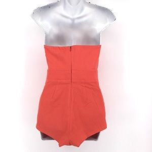 ASOS Pants - ASOS Playsuit Romper 6 Strapless Bow Shorts Coral